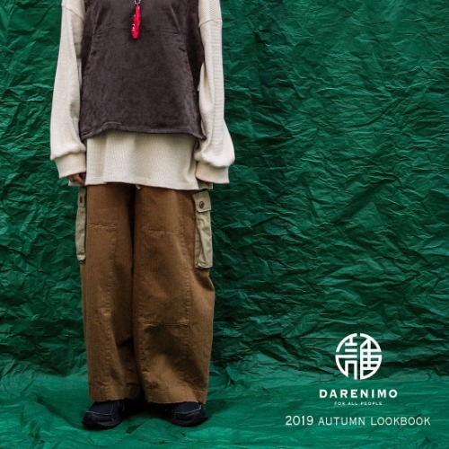 [DARENIMO] M-65 heringborn pants [Brown]