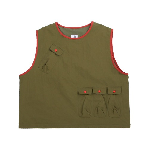 [DARENIMO] POCKET CAMP VEST (Olive)
