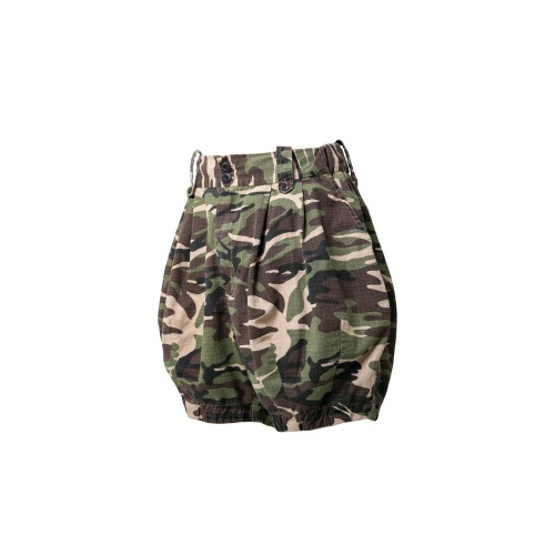 [GOLDRUSH X ANGLAN] Woodland Camo Balloon Shorts