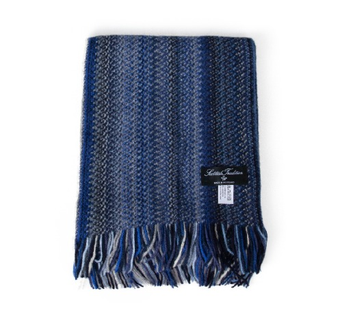 [스코티쉬 트레디션] SCOTTISH TRADITION - Angora Knitted Zigzag Scarf [Midnight]