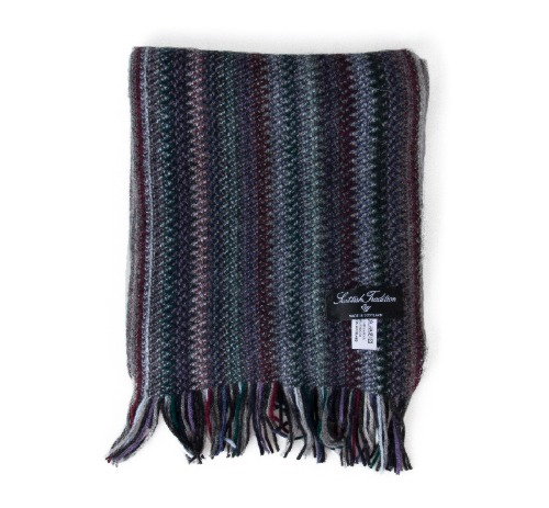 [스코티쉬 트레디션] SCOTTISH TRADITION - Angora Knitted Zigzag Scarf [Oxford]