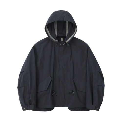 [Art if acts] HALF REVERSIBLE WATERPROOF FISHTAIL SHIELD_Navy