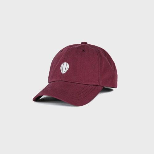 [ANGLAN] Signature Logo Ball Cap-Burgundy