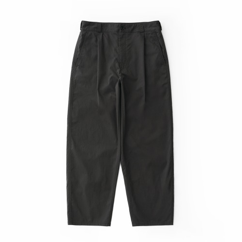 [NODE] Wide Tapered Chino Pants_Charcoal Brown