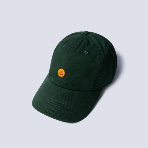 [NAMERCLOTHING] SMILE BUTTON COTTON CAP_GREEN