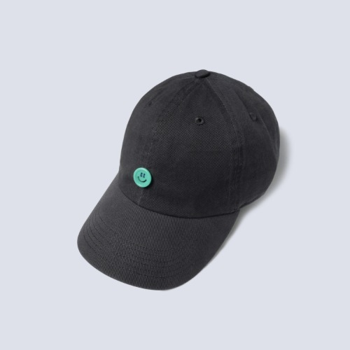 [NAMERCLOTHING] SMILE BUTTON COTTON CAP_CHARCOAL