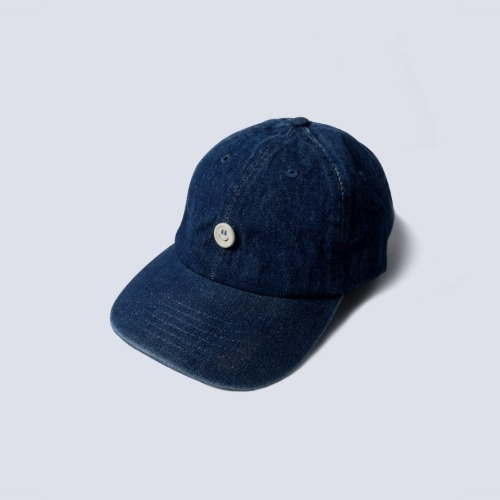 [NAMERCLOTHING] SMILE BUTTON DENIM CAP_DARK BLUE