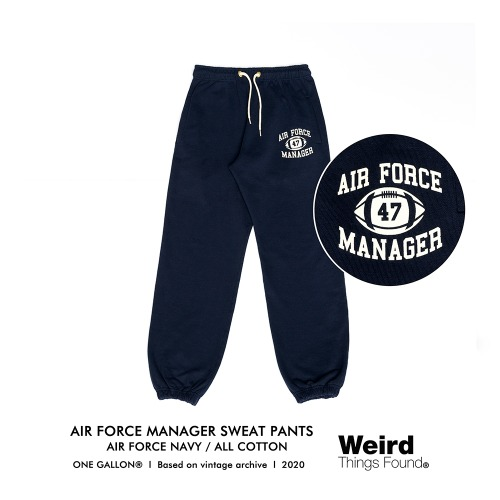 [Weird Things Found] AIR FORCE MANAGER SWEAT PANTS_Navy