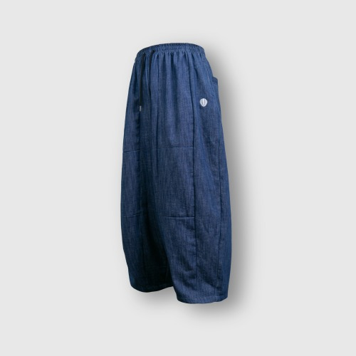 [ANGLAN] Section Wide Denim Balloon Pants_Blue