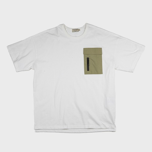 [COLD WARM] NYLON POKET-T OFF_Olive