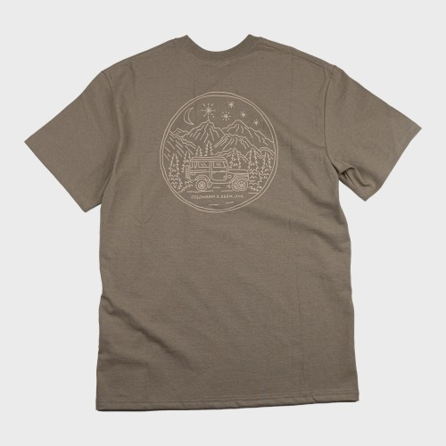 [COLD WARM] CAMP PRINT T-SHIRTS_Olive