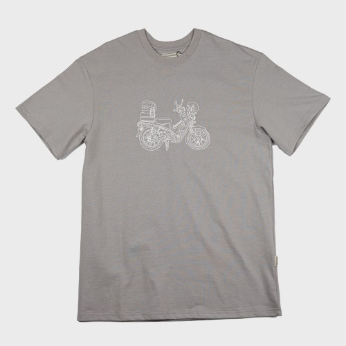 [COLD WARM] CAMP PRINT T-SHIRTS_Mid Grey