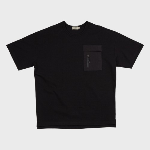 [COLD WARM] NYLON POKET-T OFF_Black/Black
