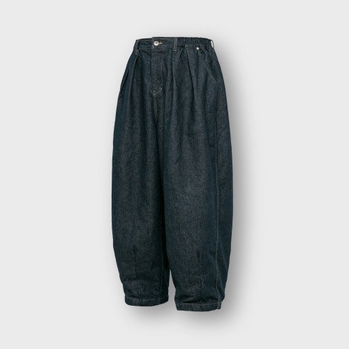 [ANGLAN] Rigid Indigo Denim Balloon Pants_Ligid