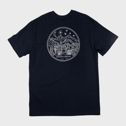 [COLD WARM] CAMP PRINT T-SHIRTS_Navy