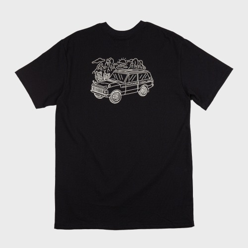 [COLD WARM] CAMP PRINT T-SHIRTS_Black