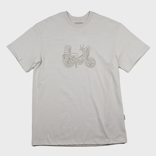 [COLD WARM] CAMP PRINT T-SHIRTS_Light Grey